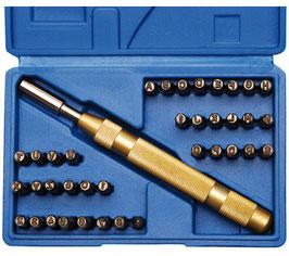 Schlagbuchstaben und -Zahlen, 4 mm (Art.3043)