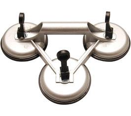 Dreifach-Gummisauger, Ø 115 mm, Aluminium (Art. 7996)