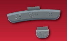 HSG Schlaggewichte, Zink für Stahlfelgen, beschichtet