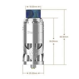 VapeFly Brunhilde RTA Clearomizer 8 ml, Durchmesser 25 mm