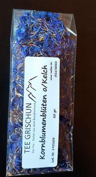 Kornblumenblüten blau ohne Kelch ganz gereinigt