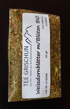 Weissdornblätter m/Blüten BIO geschnitten