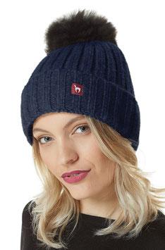 Bianca Uni Mütze mit Bommel ONE SIZE