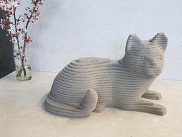 3D Kat Grijs