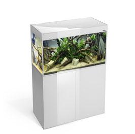 GLOSSY Aquarium 80 WHITE  mit Unterschrank