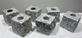 Kerzenständer Granit Weiß