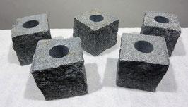 Kerzenständer Granit Grau