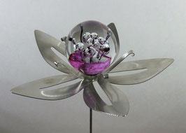 "Edelstahl-Gartenstecker Blume groß ""lila"""