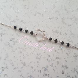 Bracelet réglable avec mèches de cheveux (BRM04)