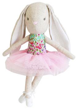 Petite poupée lapin Ballerine avec tissu fleurs multicolores Alimrose