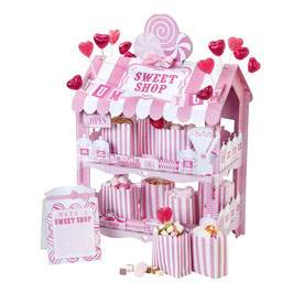 """Présentoir bonbons et gateaux boutique rose rétro """"Sweet shop"""""""