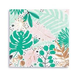 16 grandes serviettes imprimés tropical
