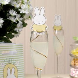 10 décorations pour verres fête anniversaire Miffy