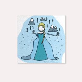 6 invitations anniversaire Reine des Neiges avec 6 enveloppes blanches , Mathilde Cabanas