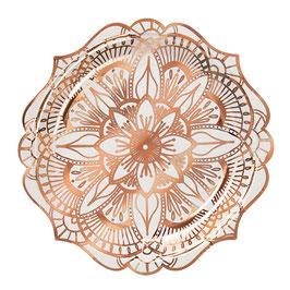 8 petites assiettes tatouages mandala rose gold meri meri