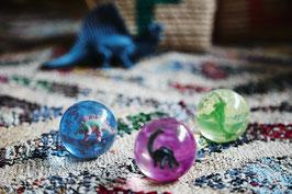 Balle bondissante dinosaure 6 cms diamètre Rice