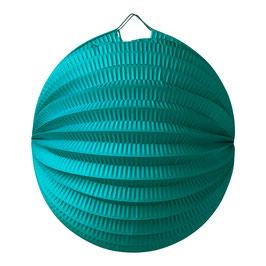 Lampion boule en papier vert émeraude 20 cms