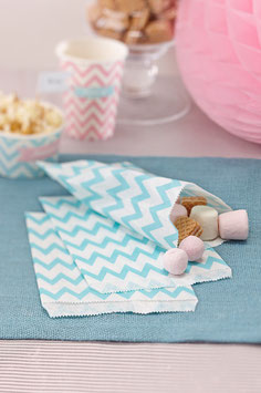 Lot de 25 sachets pastel chevron