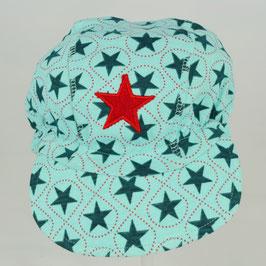 casquette fond bleu turquoise étoiles vert foncé Kik kid