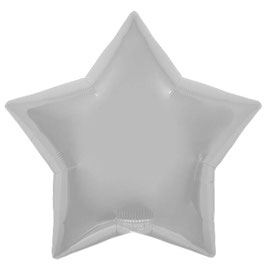 Ballon métallique étoile argent brillante