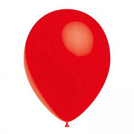 10 ballons rouges en latex
