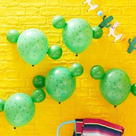 5 ballons Cactus en latex