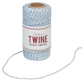 Ficelle Bakers Twine bleue et blanche 75m