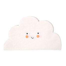 20 petites serviettes nuage visage Meri Meri