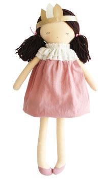 Poupée Joni robe vieux rose avec couronnes Alimrose 45cms