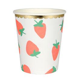8 gobelets fraises meri meri