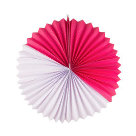Lampion boule papier bicolore fuchsia blanc my little day