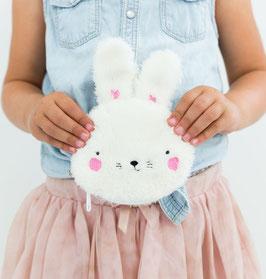 Porte monnaie fourrure lapin blanc A little lovely company