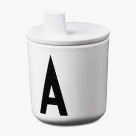 Bec verseur blanc pour tasse lettres design letters