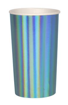 8 grands gobelets bleus holographiques meri meri