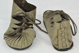 chaussures fille cuir lacées gris foncé