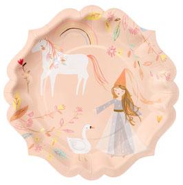 8 Grandes assiettes Princesse magique Meri Meri