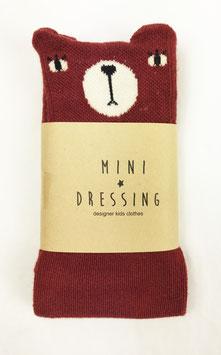 chaussettes Ours bordeaux mini dressing