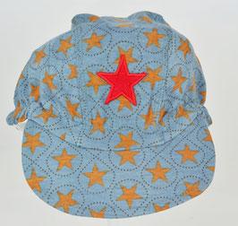 casquette fond bleu foncé étoiles marron Kik kid