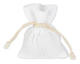 4 Pochons Mousseline de Coton Blanc