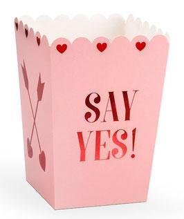 "6 Boites Popcorn Rose Pastel ""Say Yes"""
