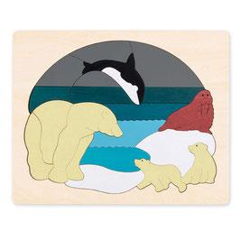 Puzzle Les animaux de l'arctique fabriqué en bois Hape toys