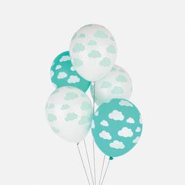 5 ballons imprimés nuages My little day