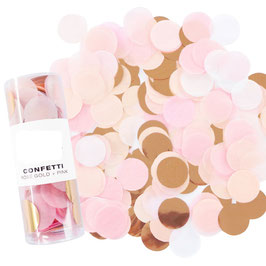 Confettis de table rose pastel, pêche, rose gold