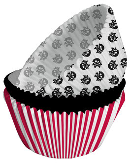 75 caissettes à gâteau pour fête Pirate