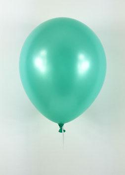 10 ballons vert menthe métallisés nacrés en latex