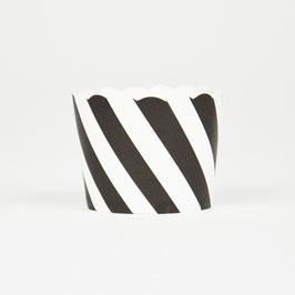 25 caissettes à cupcakes noir et blanc