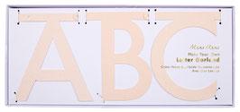Kit guirlande lettres et chiffres paillettes rose pastel Meri meri