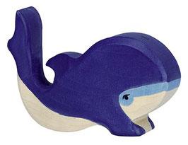 Petite Baleine bleue en bois Holztiger