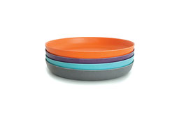 Set de 4 assiettes Bambino by Biobu variante turquoise/gris/orange/prune