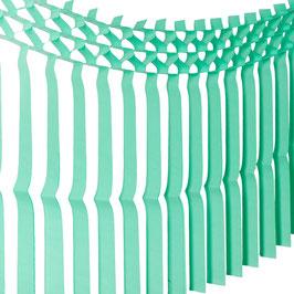 Guirlande de franges vert menthe